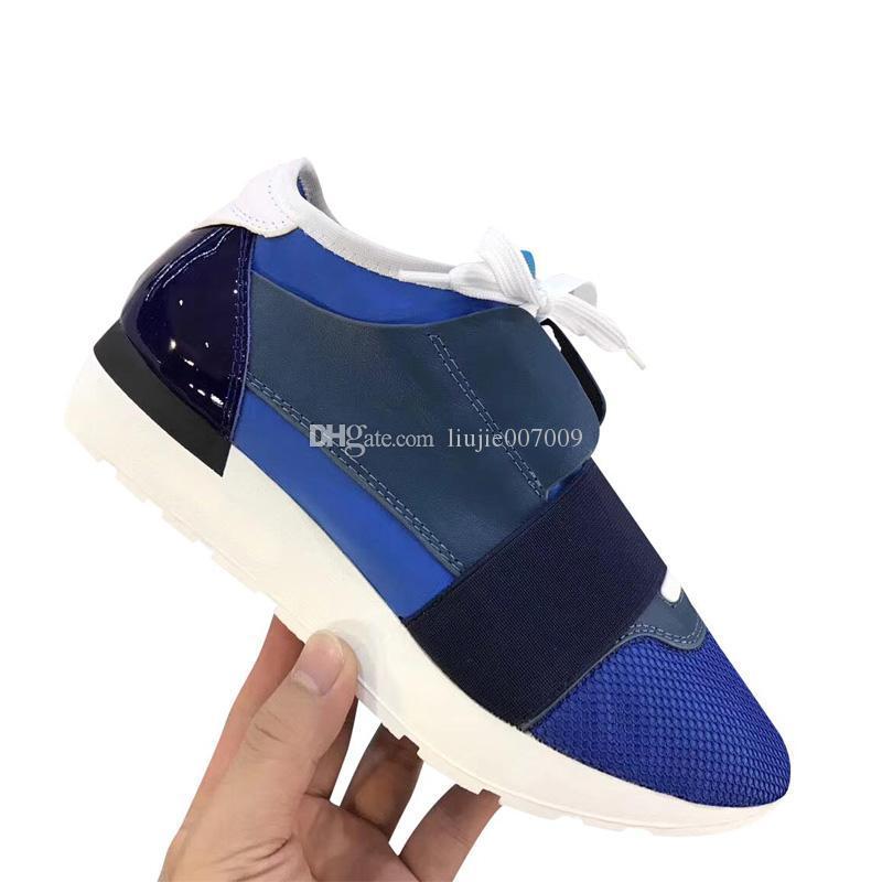 Fashion Designer Shoes Uomo Casual Donna Sneaker unisex colori misti Rosso Argento Patchwork Mesh Trainer corsa scarpe scarpe di lusso Size 35-46