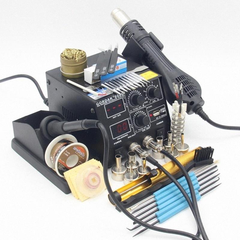 GORDAK 868D паяльная станция 2 в 1 паяльной станции SMD фена + Электрический Припой железа для сварки Ремонта инструментов kSCo #