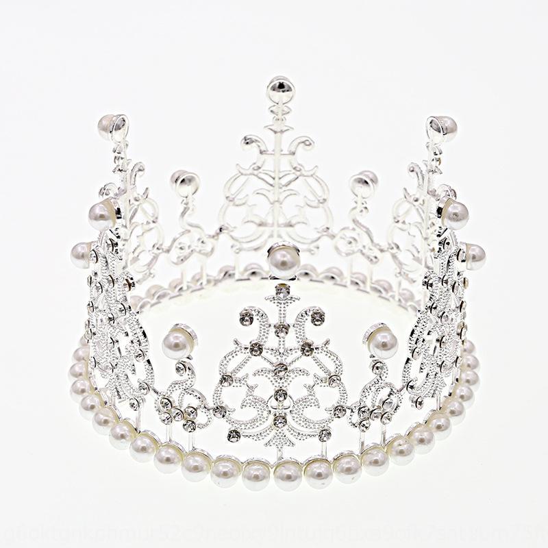 enfants coiffe de protection de l'environnement au four et Perle enfants couronne ronde fort de mariage bijoux de mariée cuisson de gâteau de perle
