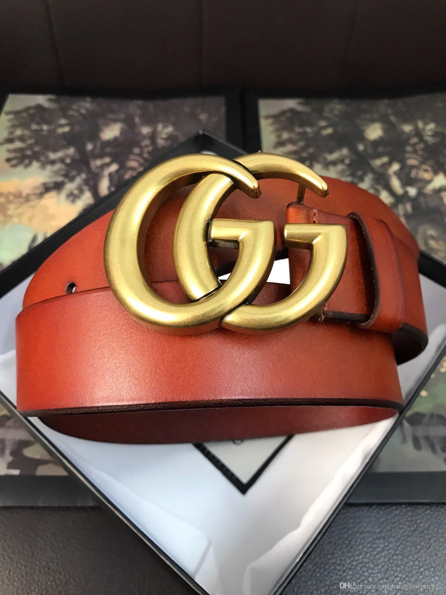 ceinture chaude design femmes boucle lettre de luxe classique avec des ceintures véritable boîte ceintures en cuir femmes hommes de mode de marque gratuit Envoi 414516
