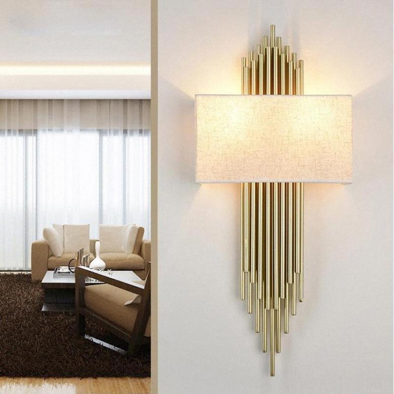 호텔 긴 파이프 프로젝트 주도 골드 튜브 벽 조명 Biege 씨 블랙 Lampsha demetal 벽 보루 램프 가게 현관의 홀 고정 3tU8 #