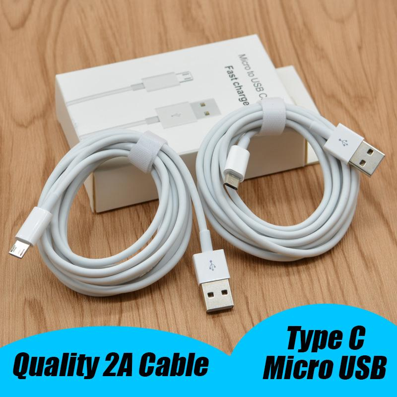 OEM TypeC Micro USB Charger Cable Type-C 2A 1m 3feet USB Data Sync Type C Charging Cable For Samsung Note10 S9 Plus Huawei