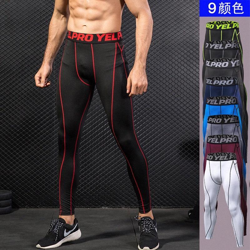 Nuova Compressione Leggings uomo Runnings Allenamento Collant Uomini Strato Athletic Base pantaloni da uomo con tasca gXZr #