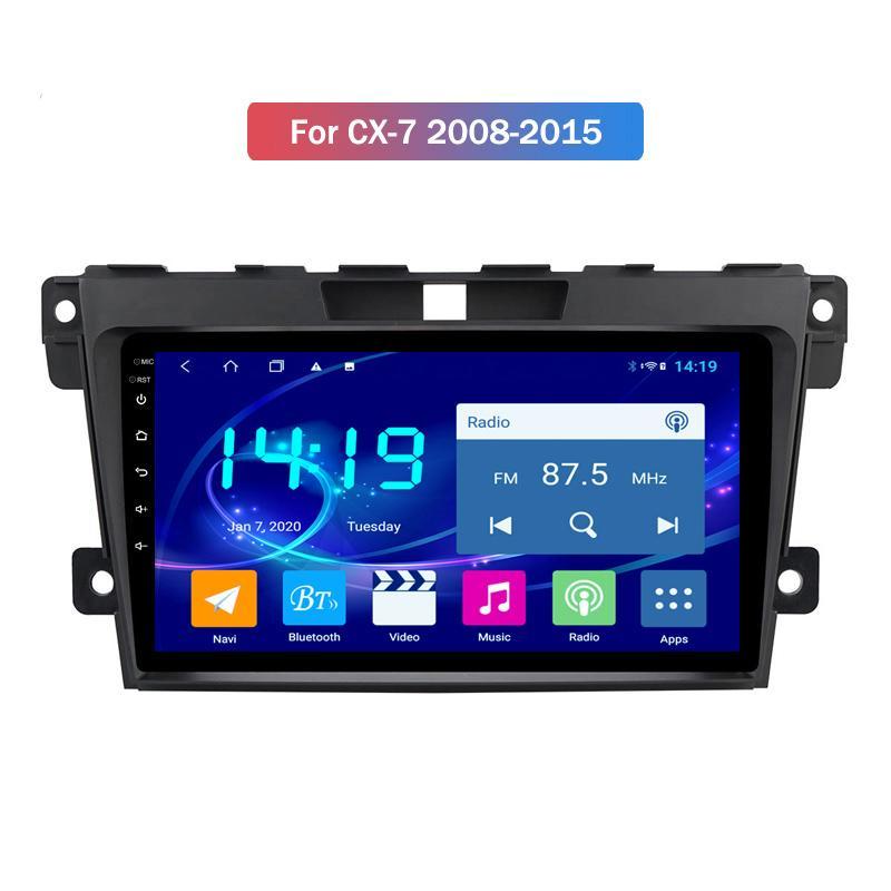 4G + 64G Android 10 2.5D écran IPS Lecteur DVD de voiture pour Mazda CX-7 2008 2009 2010 2011-2015 audio stéréo Bluetooth Wifi Swc