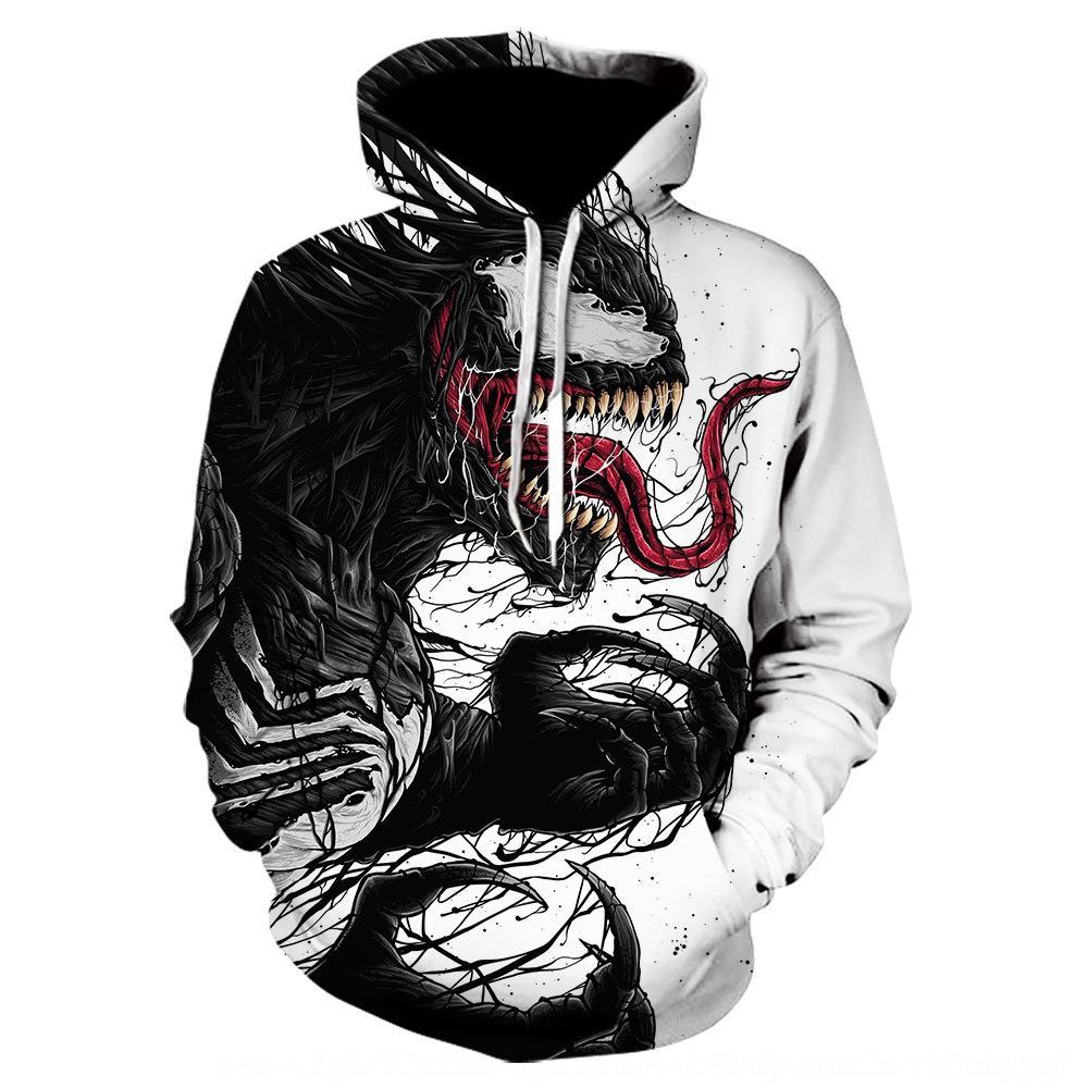 bQFqD suéter veneno de la impresión de la manera del invierno del otoño del todo-fósforo par manga larga con capucha suéter con capucha Nuevo Digital y Digital