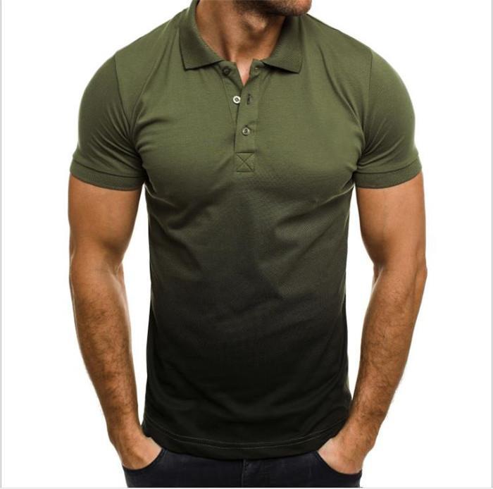 Sommer Herren Polos Steigung-Farben-Revers-Ausschnitt Kurzarm Slim Man Tees Lässig Homme Tops