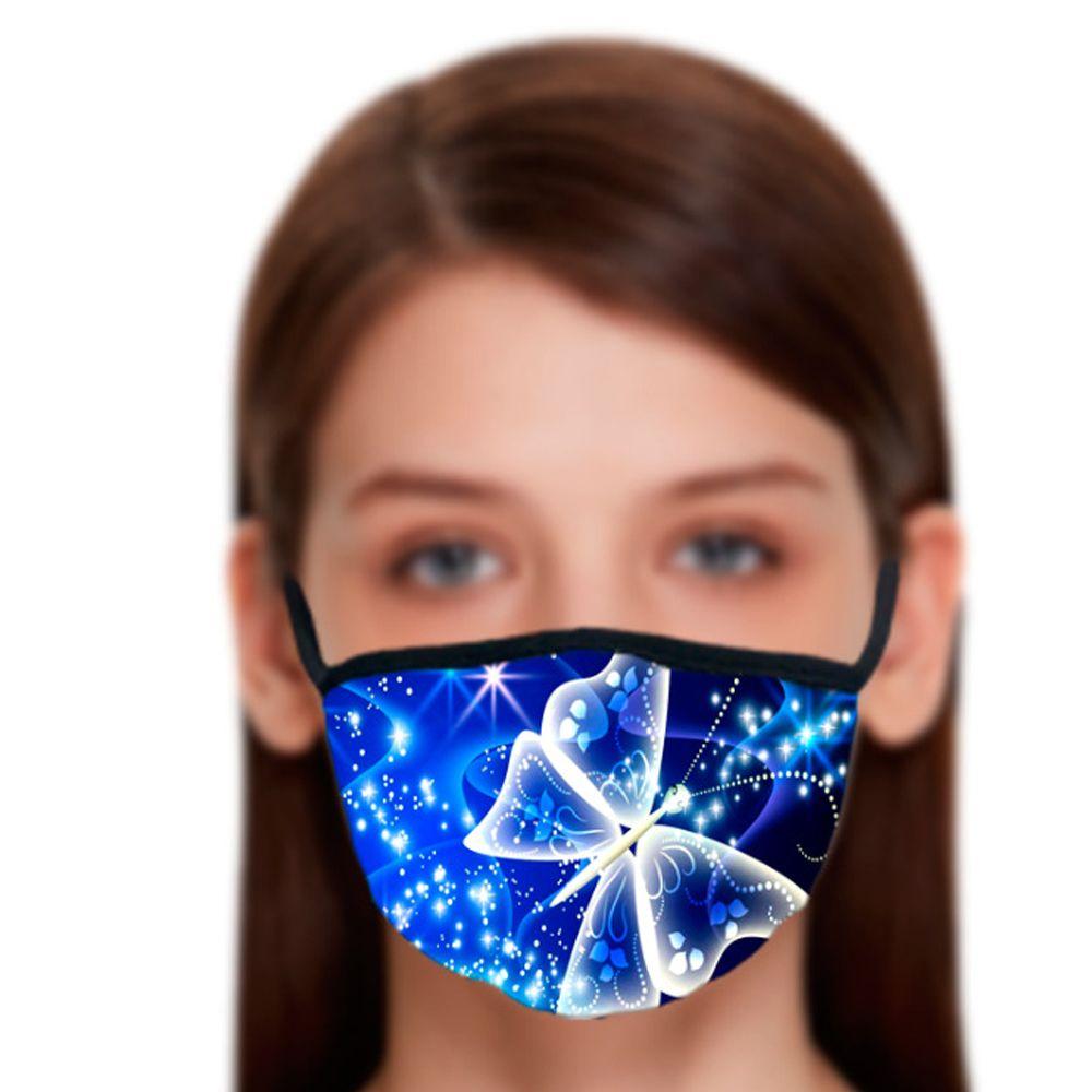 Butterfly Pattern 3D stampa maschera viso con cotone riutilizzabile maschera viso fuori porta sport maschera da equitazione maschera di moda all'ingrosso