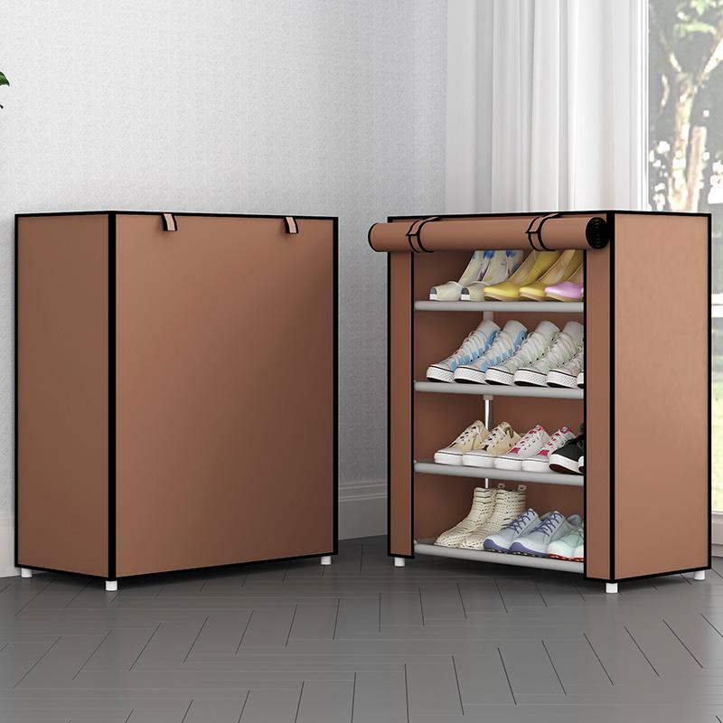 Multistrato semplice scarpiera casa salva-spazio a prova di polvere di scarpa artefatto armadietto supporto scarpiera economico mensola KL2