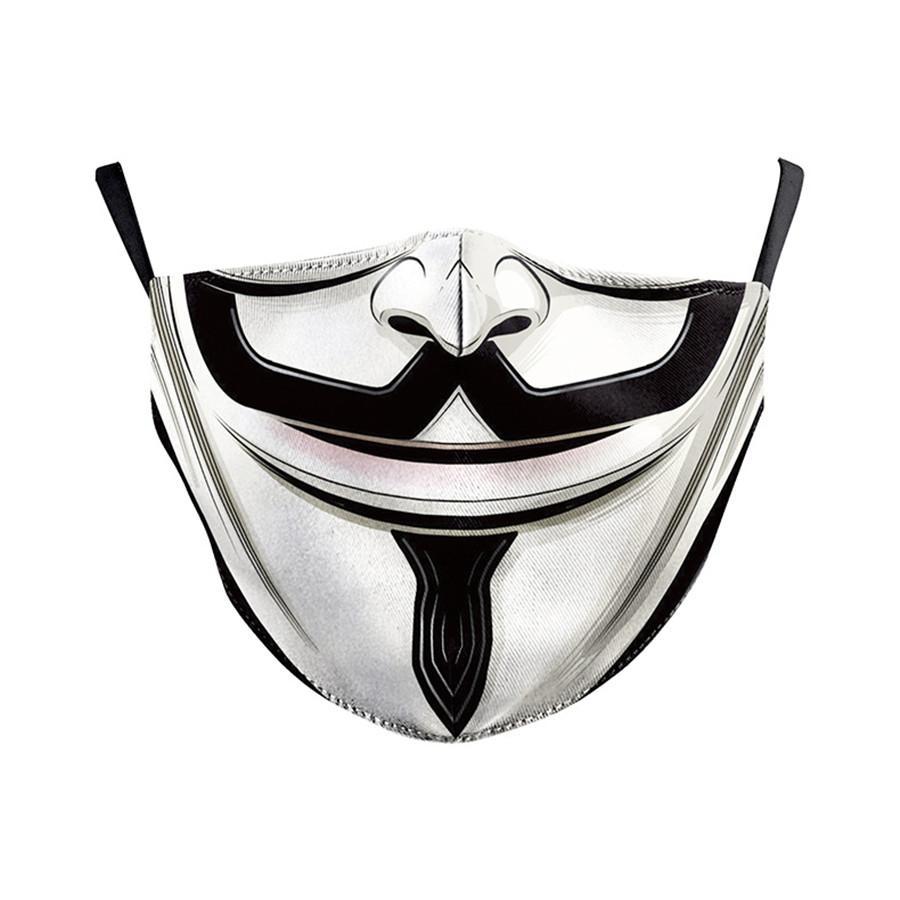 Novità Maschera per adulti bambini con filtro PM2.5 cotone Bocca della maschera di protezione della mascherina protettiva antipolvere Maschere del fumetto filtro lavabile carbonio Breat # 230