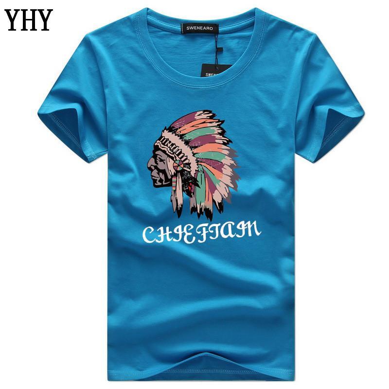 Las nuevas llegadas verano 5XL Hombres camiseta de manga corta de algodón ocasional del Hombre Ropa 5XL camiseta de Hip hop C-9
