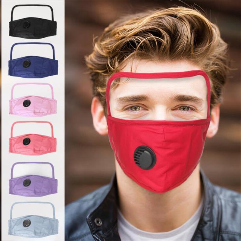 자전거 재사용 보호 마스크에 대한 아이 실드 방진 안면 보호구 2 층 세척면 밸브 마스크 1 개 얼굴 마스크에 DHL 2