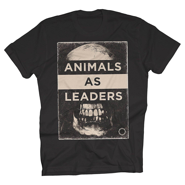 Animaux En tant que dirigeants - Skull - T-shirt T-shirt homme noir manches courtes en coton Hip Hop T-shirts