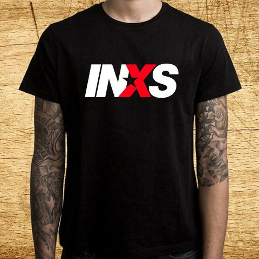 INXS Klasik Rock Band Logo Erkek Siyah Tişört Beden S M L XL 2XL 3XL