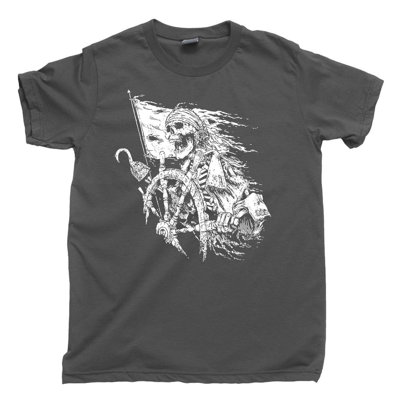 Piraten-Leben-T-Shirt Booty Treasure Island Buccaneer Tattoo Segeln Ozean Meer T