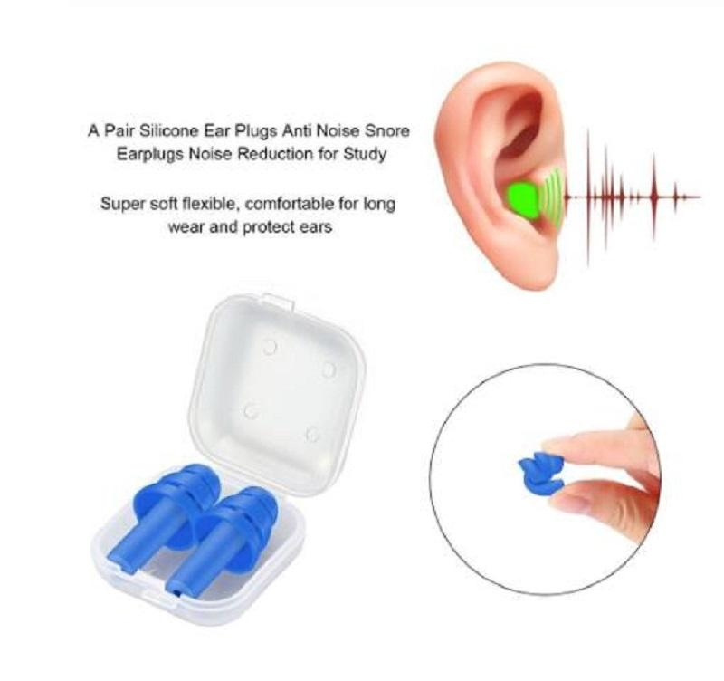 Spiral Solid Silicone Foam Ear Plugs Sleep Anti-Noise Snoring Earplugs noise cancelling For Sleeping Noise Reduction 35*29*14mm