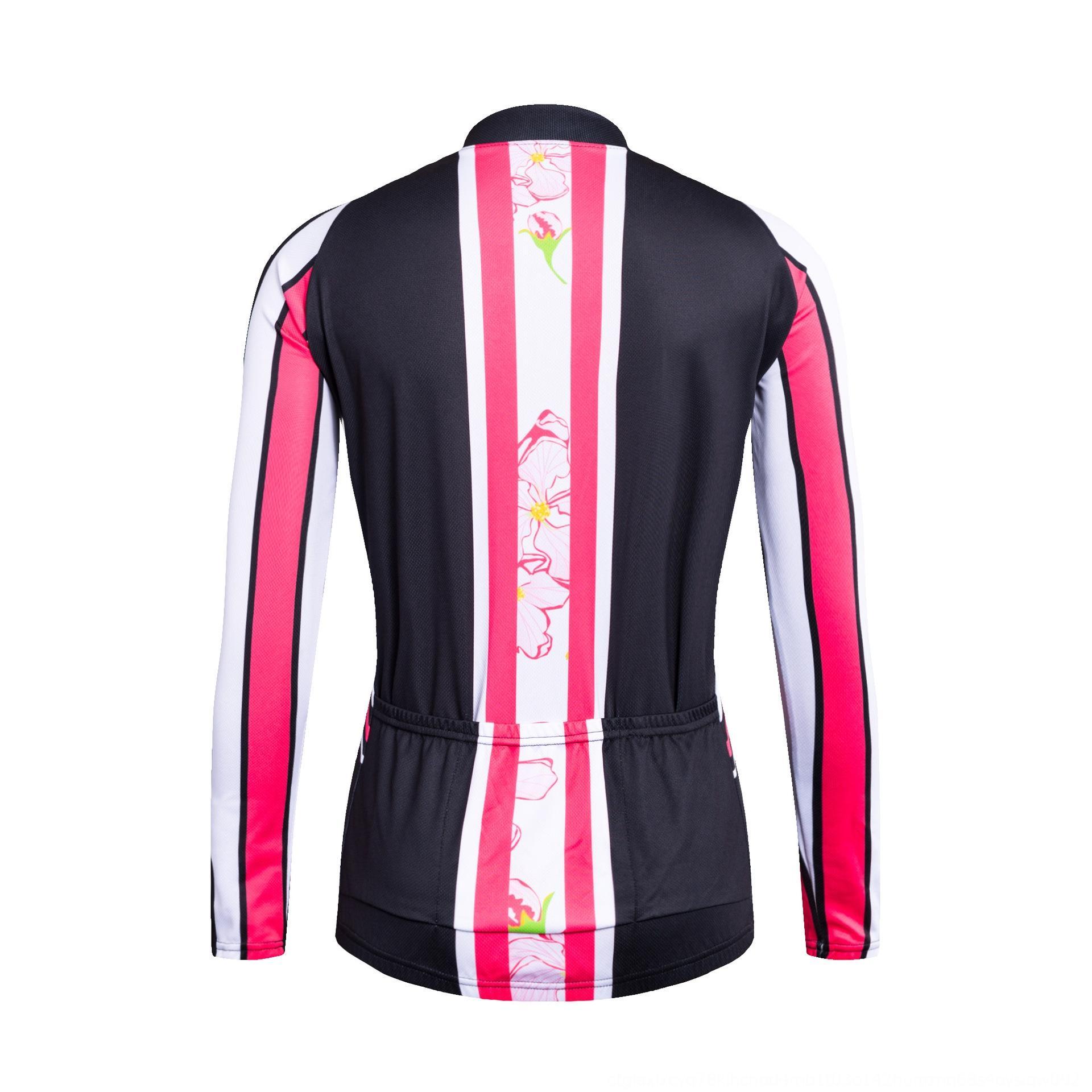 das mulheres terno de mangas compridas bicicleta esportes camisa bicicleta Primavera Outono absorção de umidade jerseys Ciclismo Ciclismo calças cMKZ5