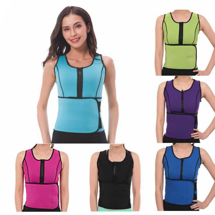 النيوبرين ساونا سترة الجسم المشكل التخسيس الخصر المدرب زائد حجم تجريب ملابس داخلية قابل للتعديل الخصر سينمز حزام مشد 6 اللون