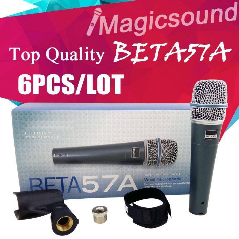 Upgrade-Version BETA 57A !! Großhandels6pcs Beta57 BETA 57 Vocal Handmikrofon Niere dynamische verdrahtete Microfone Mic
