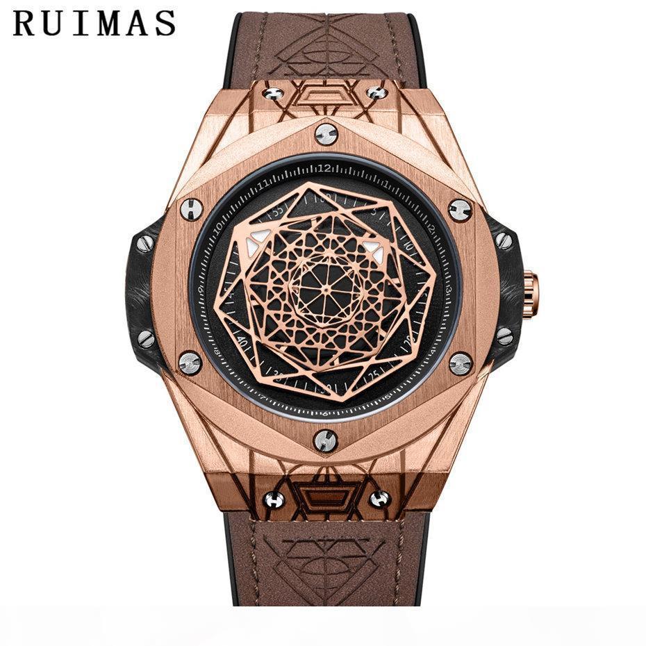 Hommes Nouveau design de mode Montre Orologio Uomo 2018 Creative Montres Quartz Hommes cuir Montres-bracelets Horloges Erkek Kol Saati