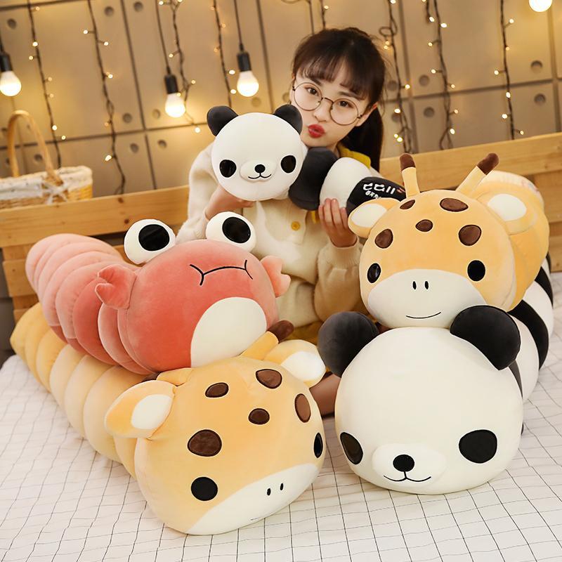 bonito um longo peluche inseto transformar panda de pelúcia brinquedo brinquedo travesseiro bichos de pelúcia peluches Grandes casa decoração T200731 presente boneca