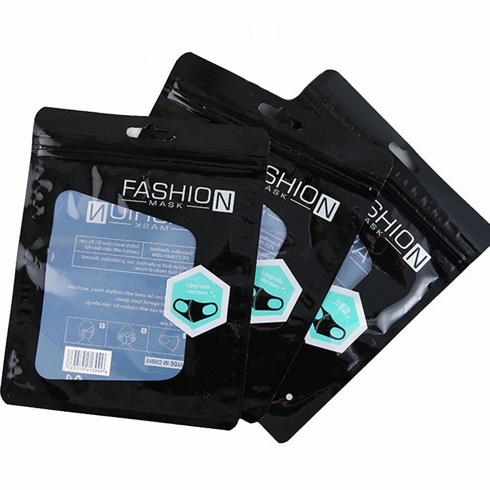 Zipper Varejo Embalagem protetora para máscara de moda palavras chinês palavras embalagem saco opp 1000 pcs bloqueio sacos para máscaras sem sacos pacote pr jcid