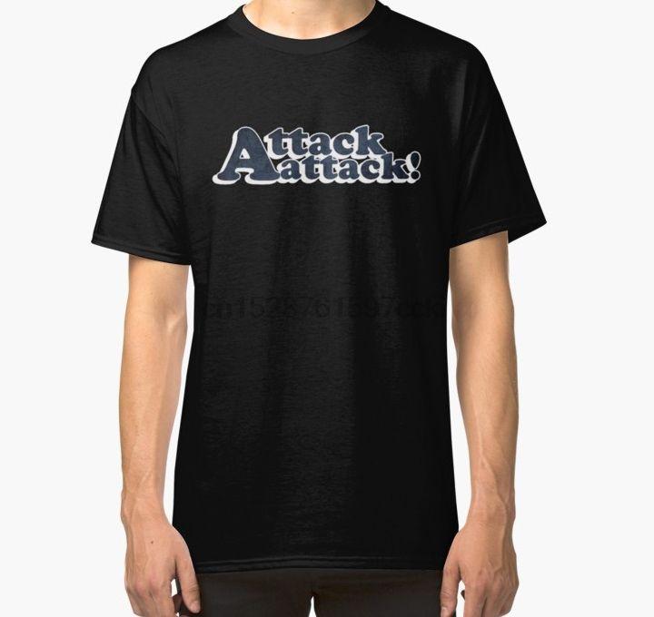 Les hommes tshirt attaque! ATTAQUE logo classique T-shirt imprimé tees T-shirt haut
