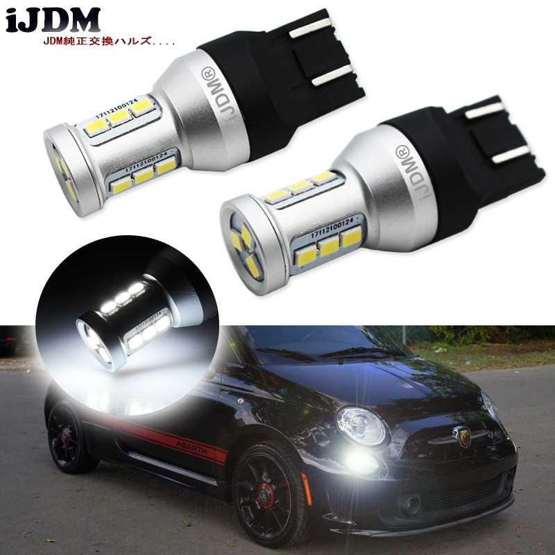 iJDM автомобиля T20 LED 6000K White High Power 7443 W21 / 5W LED лампы 12В для сигнала поворота фары, дневные ходовые огни, фары обратного