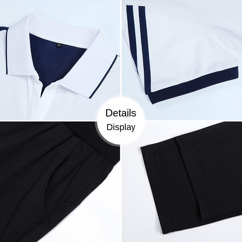 maglione attrezzatura della 2019 due pezzi paio temperamento pantaloni a maniche corte di sport di estate delle donne del vestito di stile coreano di svago T-shirt eJSTe qwJeJ