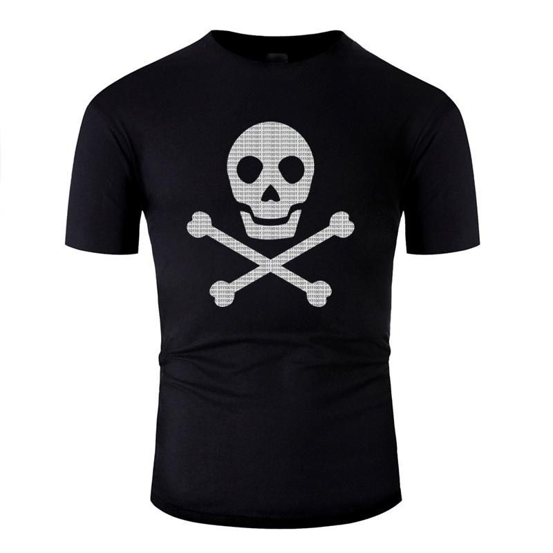 Imprimé mode Pirate informatique T-shirt homme coton hommes et les femmes T-shirts classique Gents à manches courtes T