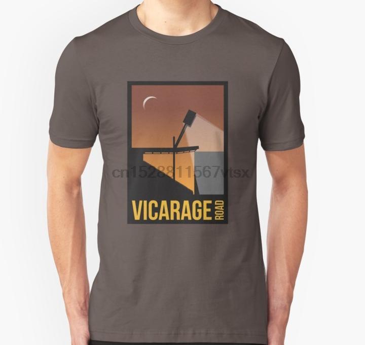 Stat Sanat Vicarage Yol Siluet Unisex Tişörtlü Baskılı Tişört tee üst tişört Erkekler