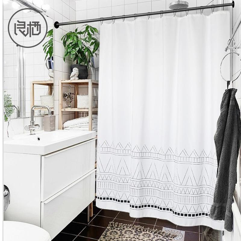 LIANG QI Thicken Ethnic tassel Shower Curtain Bathroom tools partition Waterproof High quality Hanging curtain Home Decoration T200711