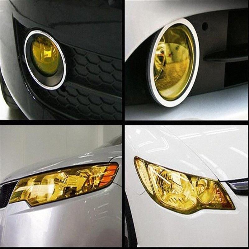 Haute Qualité voiture teinter Car Styling Accessoires Auto voiture Tint phares antibrouillard Feu arrière Vinyle Noir Noir Film 40cm X 1.4m ALVC #