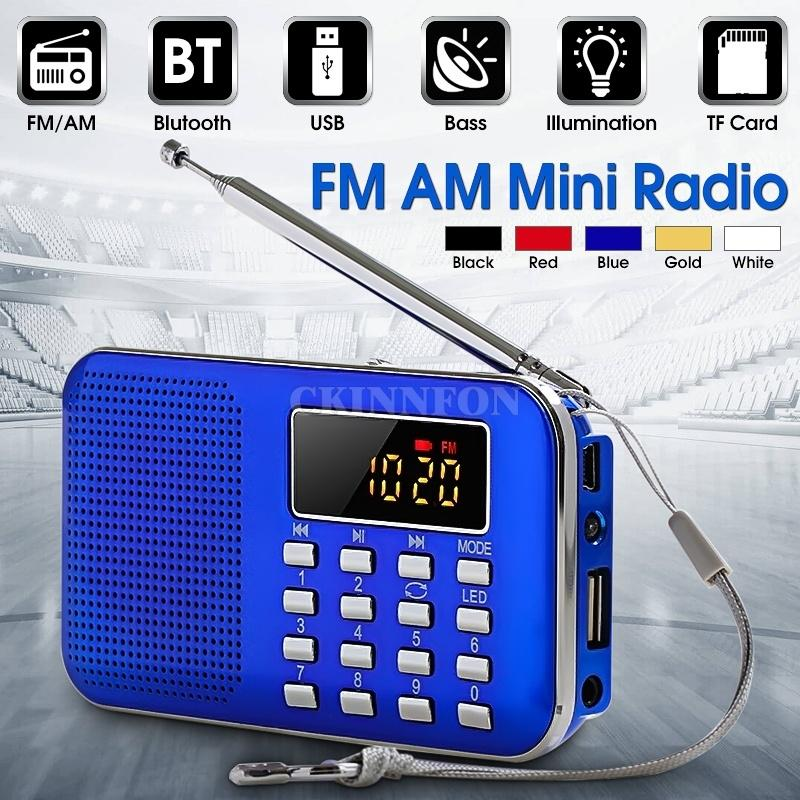 20Pcs / Lot Taşınabilir Dijital LCD Alıcı İnce Mini Stereo AM FM Radyo MP3 Müzik Çalar KAYIT Kaydedici