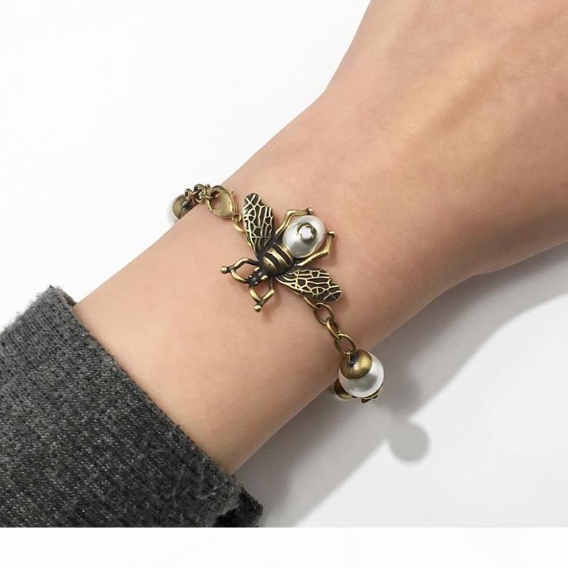 Tier-Perlen-Armband Frauen Frau Honeybee Opal Armbänder Copper Hochzeit Verlobung Schmuck