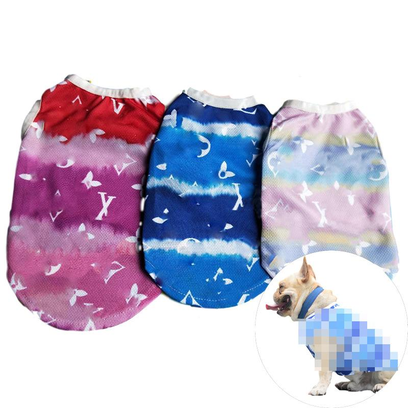 Hot Sell Old Flower Printed Dog Vest Fashion Dogs Cats Outdoors Clothes Teddy Schnauzer Bulldog Pets Vests