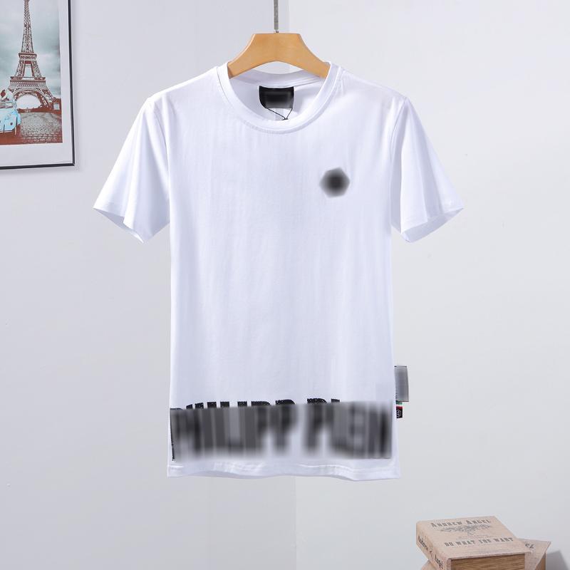 erkek tasarımcı t shirt Mens Kafatası tişört Yüksek Kalite baskı t shirt Tees erkek iç çamaşırını boksörler Phillip düz Phillip Düz PP yy100