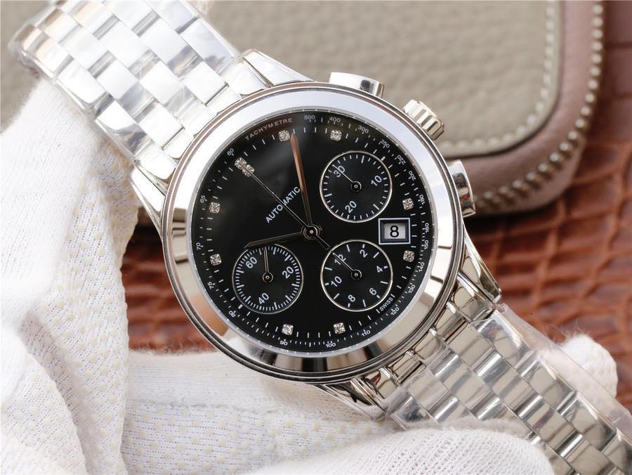 2020 1-1 L688 Автоматическое механическое синхронизаточное и управление Второму движению 39 мм Диаметр бренда Часы мужские часы Прекрасная стальная часовая ремешок дизайнер
