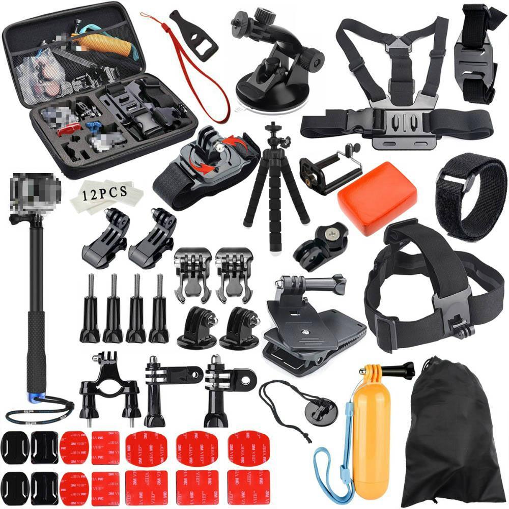 Gloorystar per Gopro Accessori Set Go Pro Ero Hero 8 7 6 5 4 3 Kit Way Selfie Stick per Eken H8R per Xiaomi Yi EVA Case Osmo Azione Telecamera
