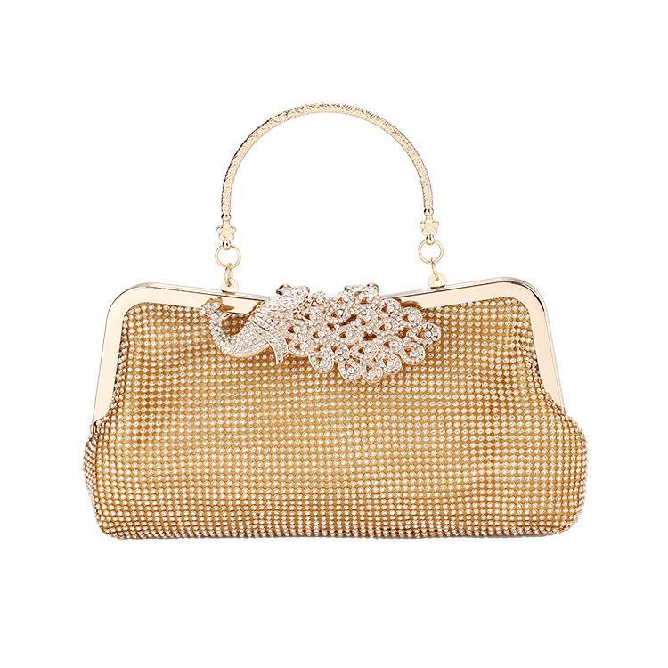2020 new ladies fashion diamond banquet bag dress cheongsam clutch bag shoulder messenger bag