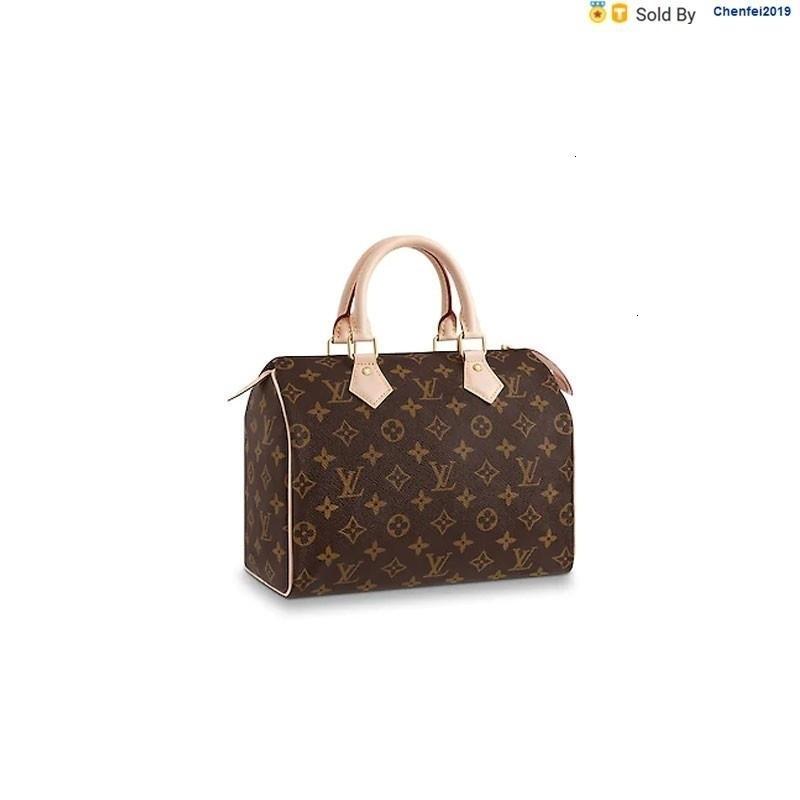 chenfei2019 X9MK Speedy 25 Handbags Flower Handbag Boston Handbag M41109 Totes Handbags Shoulder Bags Backpacks Wallets Purse
