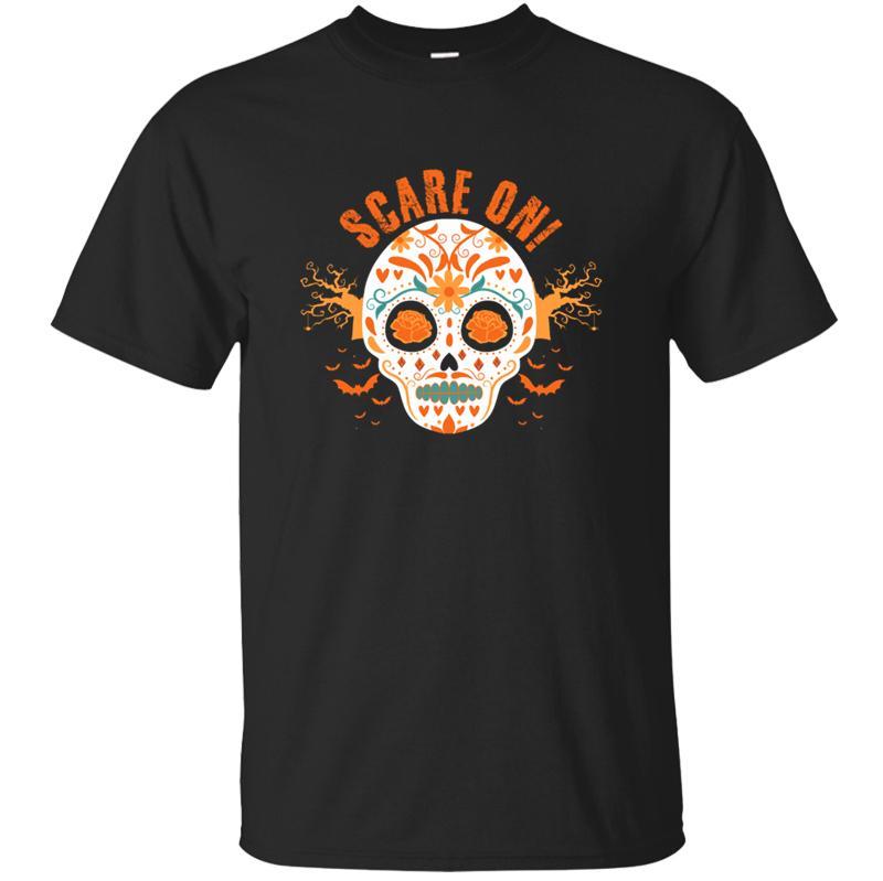 La nuova maglietta uomini donne 2019 dimensione Umorismo Calavera halloween unisex S-5XL Kawaii uomo T-shirt Fitness Pazzo Tee cime