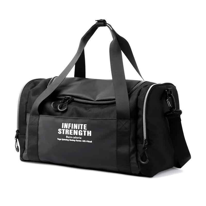 Ayakkabı Kompartımanındaki ile Büyük Kapasiteli kuru ıslak ayırma seyahat haftasonu çantası Su geçirmez Spor Salonu Seyahat spor çantası