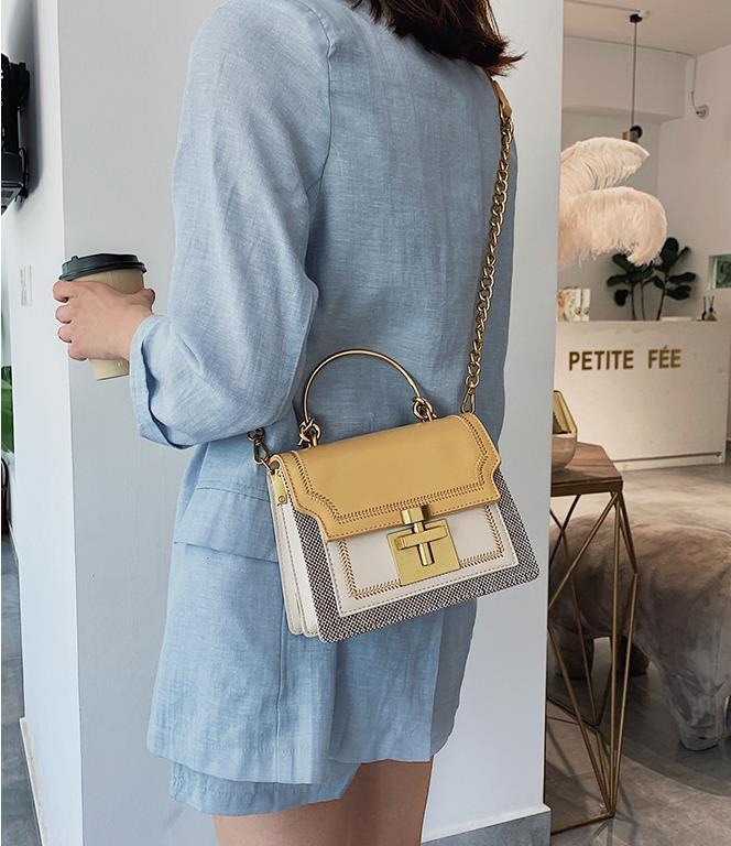Crossbody Bag França Estilo New Designer de luxo Bolsas Bolsas 4 cores Mulheres Designer de moda sacos de ombro PU Luxury