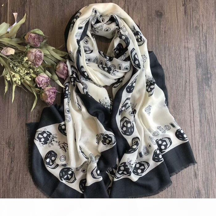 PROMOTION!LUXURY Winter Scarves TOP Quality!Cool Skull Scarf Chic Stylish Scarfs For Women Autumn Winter Lady's Muffler Shawls Wraps Hi