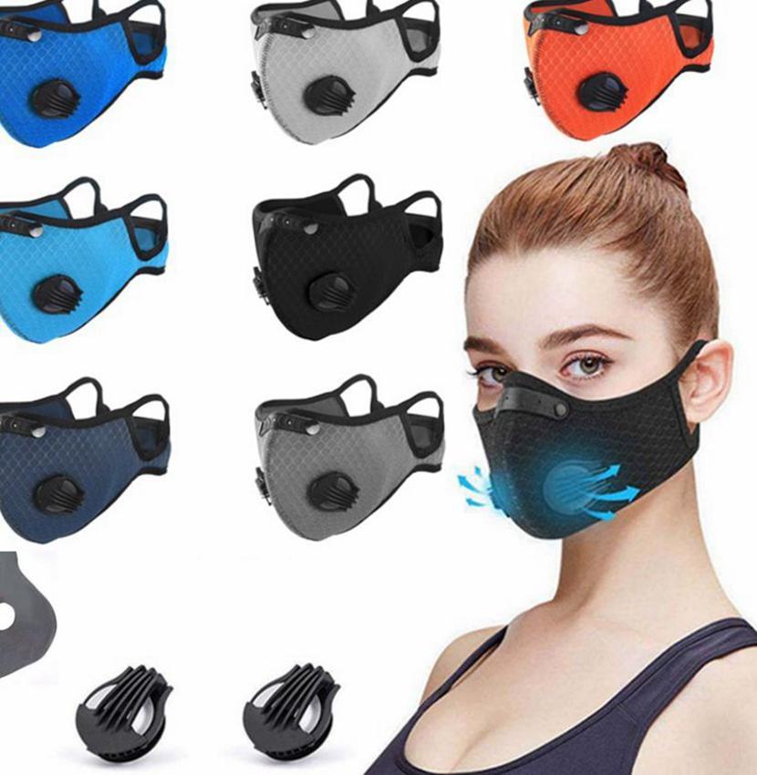Riutilizzabile polvere maschera di protezione con filtro 1pcs valore protettivo corsa in bicicletta in bicicletta viso maschere LJJK2417