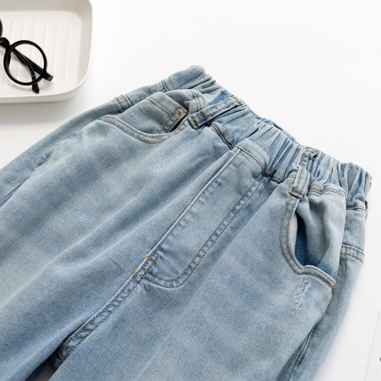 SD55I jeans automne enfants et des jeans garçons de style coréen de petits trous et les moyennes style étranger enfants filles tout-match Loo casual