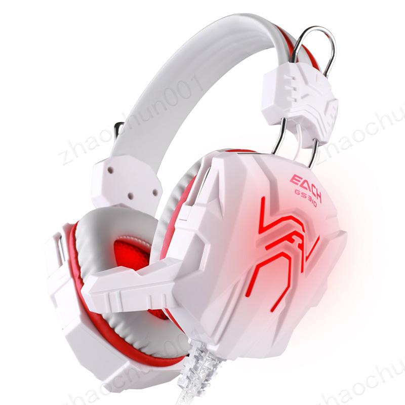 2019 High quality Computer Stereo Gaming Headphones Best casque Deep Bass Game Earphone Headset with Mic LED Light for PC Gamer