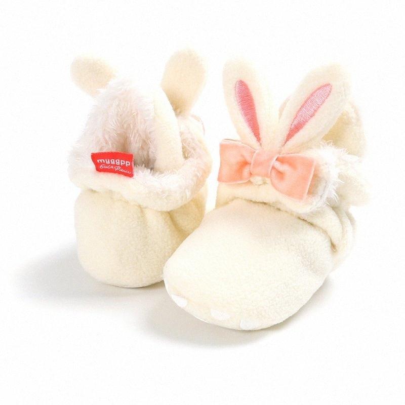 Противоскользящие детская обувь новорожденных девочек ребенка зимой тапки мультфильм девочек хлопка первый ходунки Плюшевые пинетки JMVz #