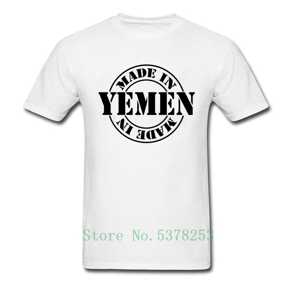 Made In Yemen T-Shirt Men T Shirt Tshirt Letter Tees Clothing Top Unique Students Tops White Cotton t-shirt 5xl men 2020