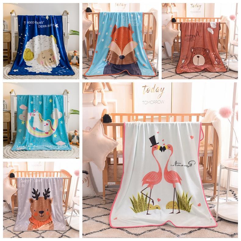 Mullida manta del tiro de piel suave manta del bebé niños de la historieta de Amigos de los Niños Mantas de dibujos animados 100 * 140cm 15pcs textiles para el hogar CCA12372